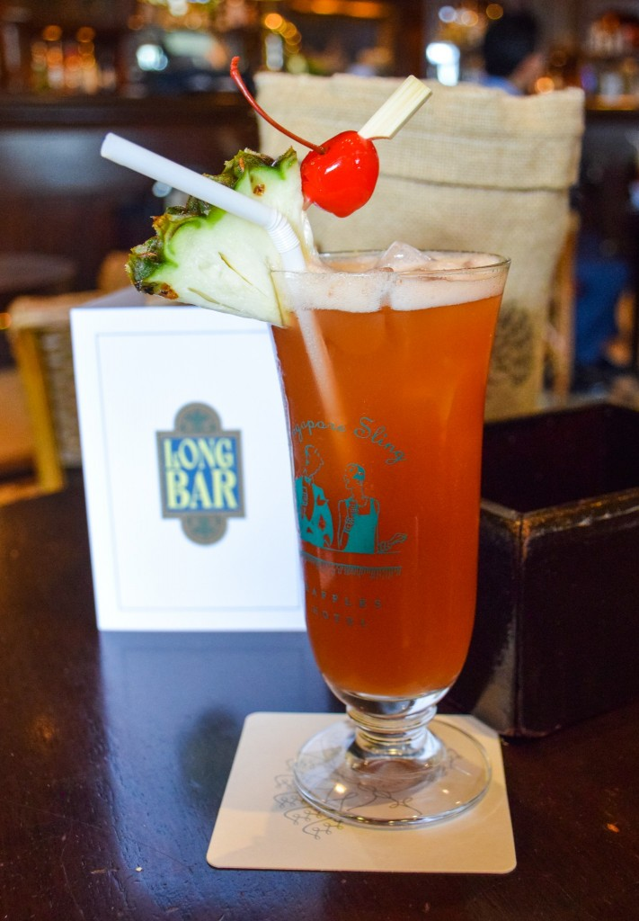 Singapore Sling Long Bar Raffles Hotel