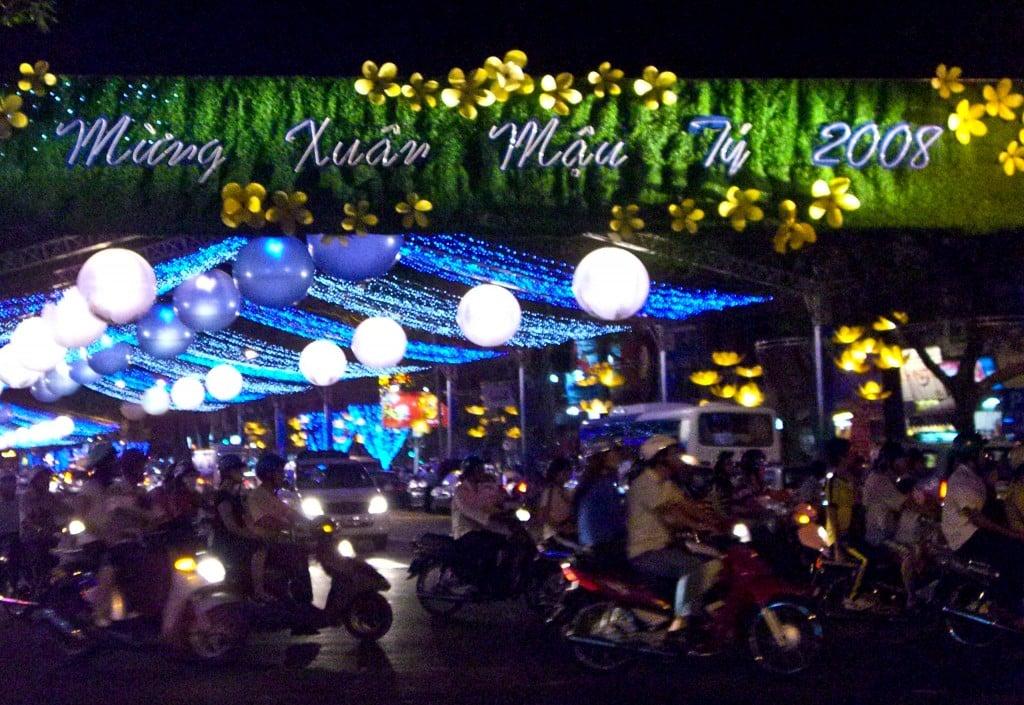Motorbikes Saigon Vietnam