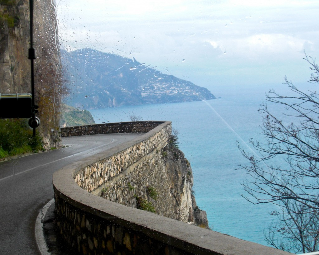 Winding roads Amalfi Coast Italy
