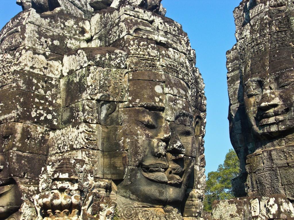 Faces of Bayon Angkor Cambodia