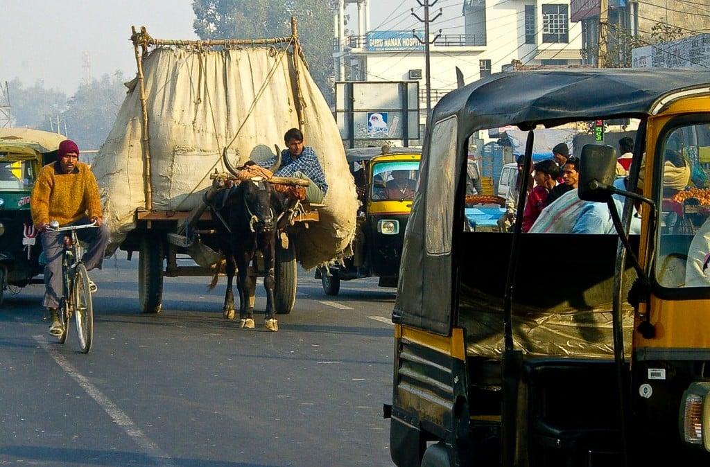 India traffic Agra