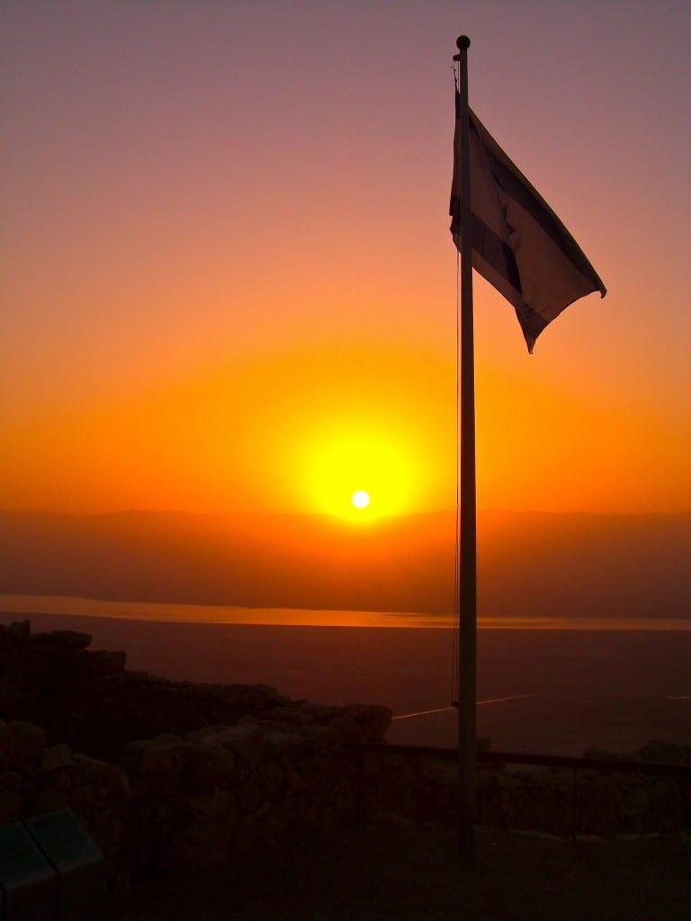 Sunrise at Masada Dead Sea Israel