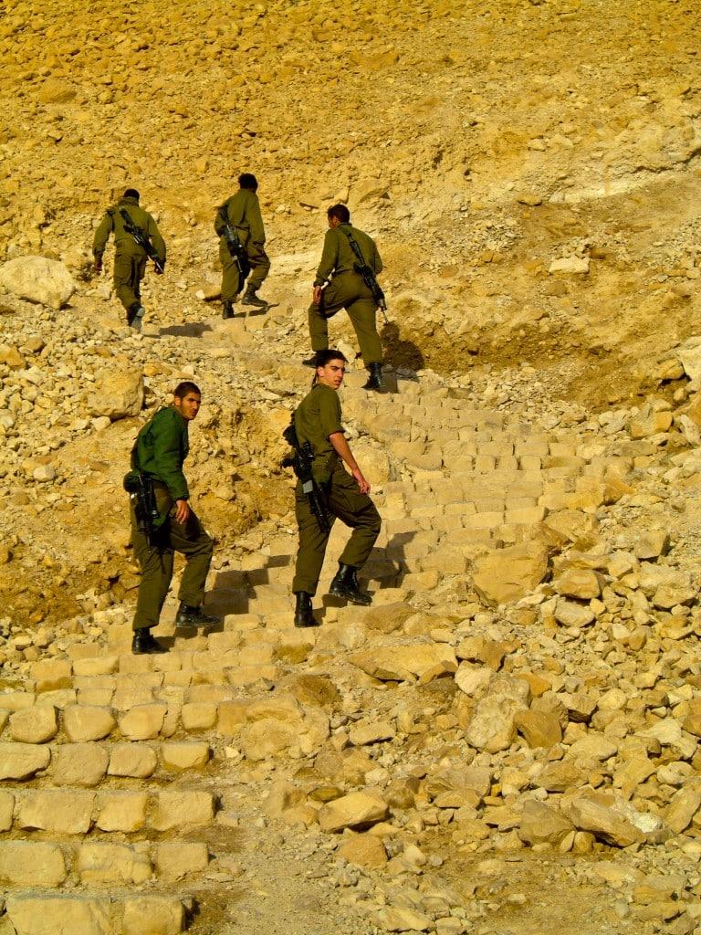 Israeli soldiers Masada Israel