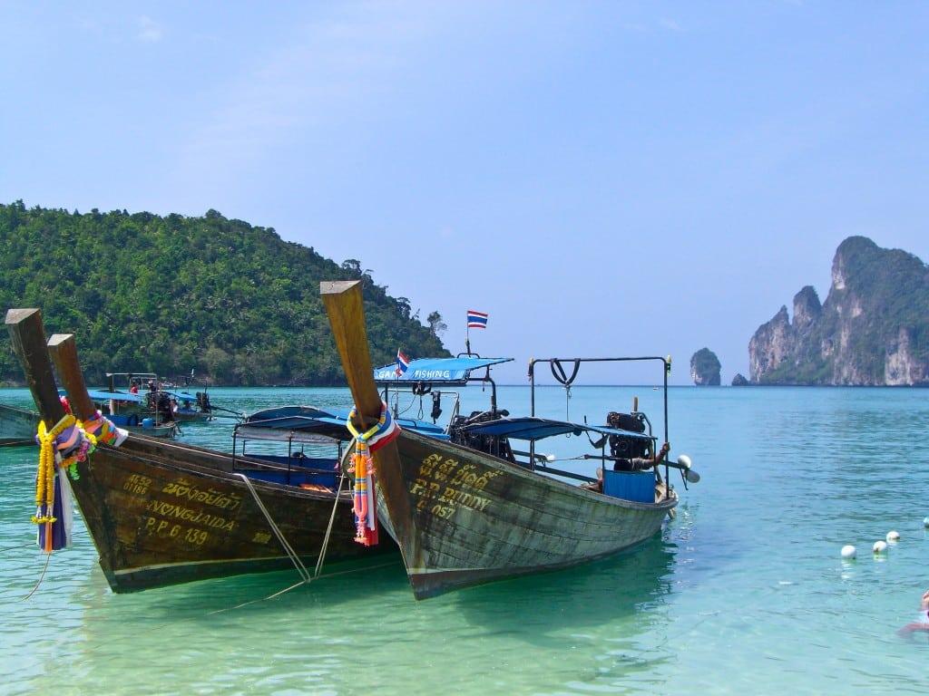 Longtail boats Ko Phi Phi Thailand