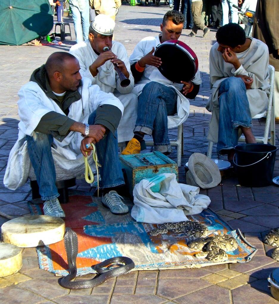 Snake Charmers Jemaa el Fna Marrakech Morocco