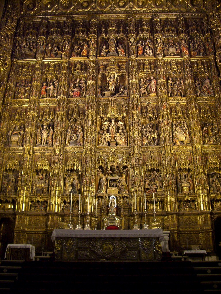 altarpiece Catedral de Sevilla Seville Spain