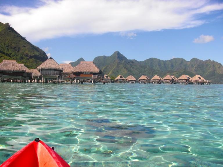 Blue Lagoon Paradise in Moorea Island, French Polynesia