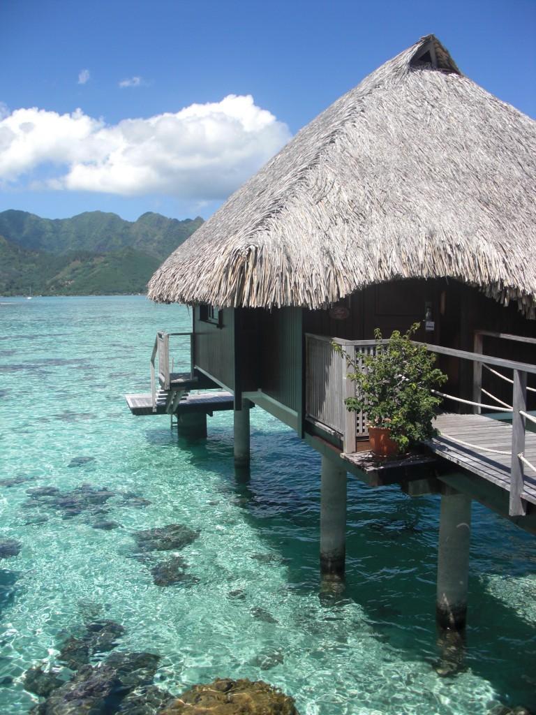 Moorea Overwater bungalow Hilton Moorea Lagoon Resort