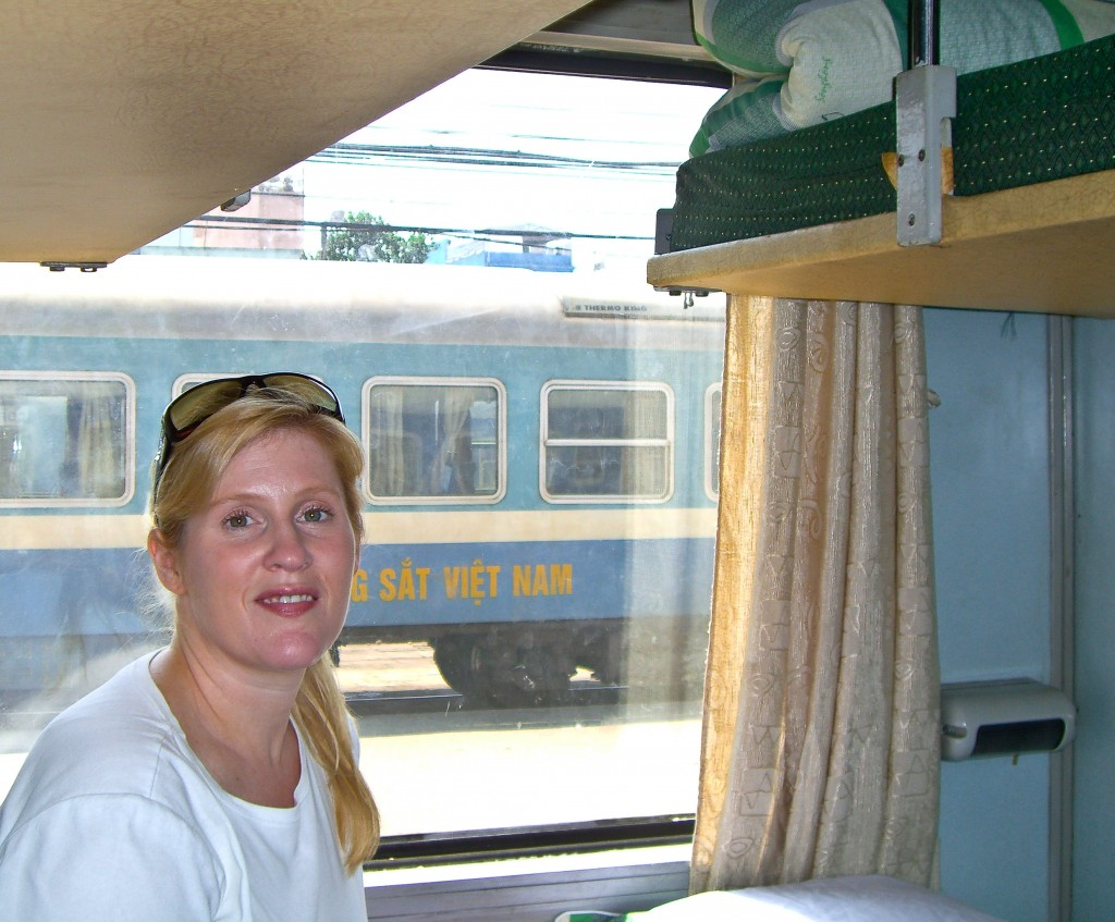 Train from Saigon to Hanoi Vietnam