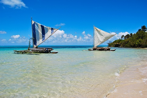 Pirogues Ile des Pins New Caledonia