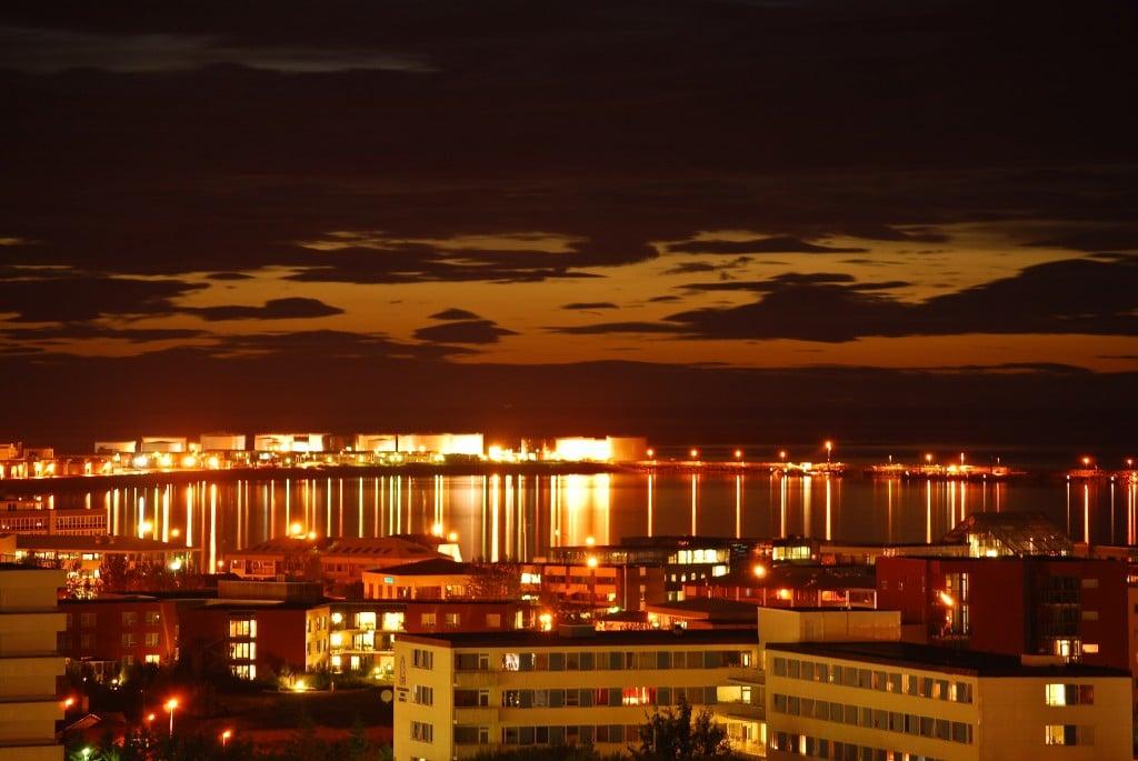 Sunset Reykjavik Iceland