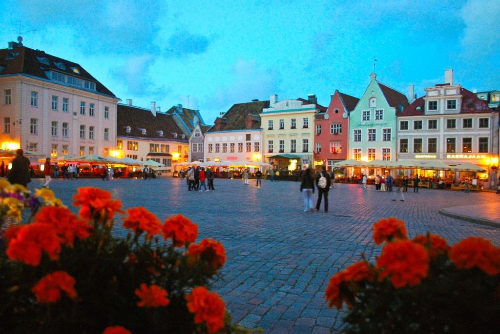 Old Town Square Tallinn Estonia