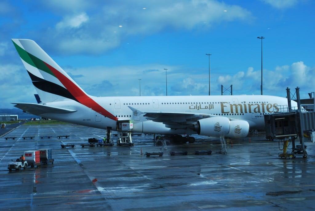 Emirates A380 Auckland