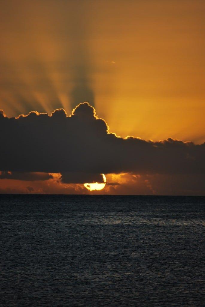 Sunset Savaii Samoa