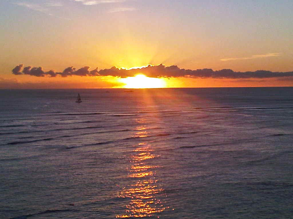 Sunset Honolulu Hawaii
