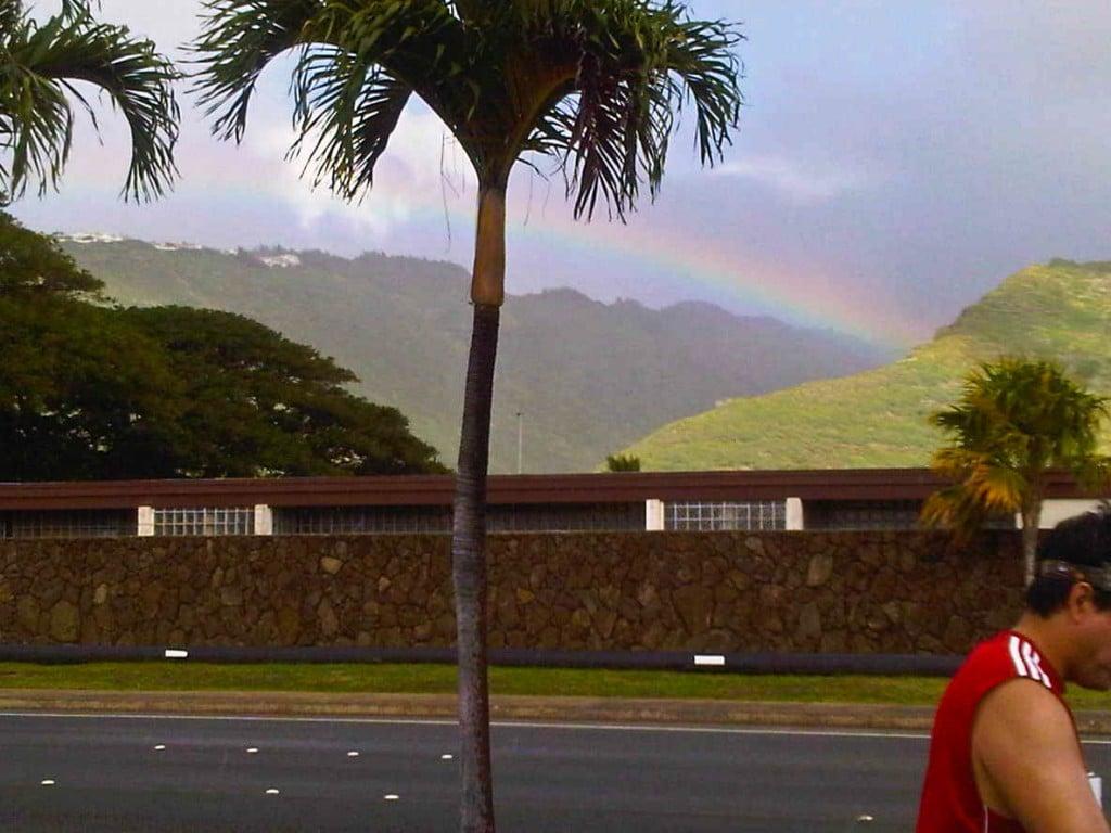 Honolulu Marathon Rainbow