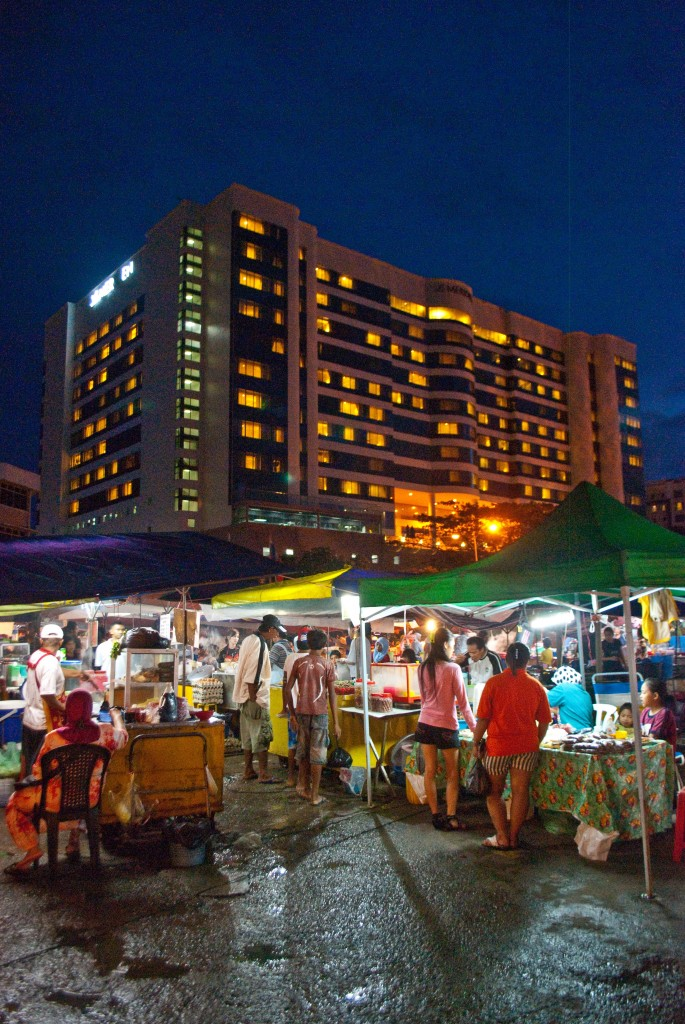 Night market Kota Kinabalu Malaysia Borneo