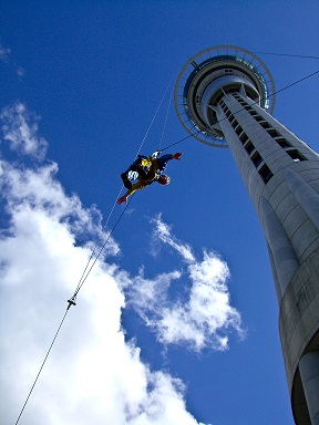 Sky Jump Sky Tower Auckland New Zealand