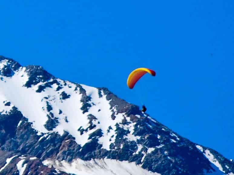 Paragliders Mont Blanc Chamonix France