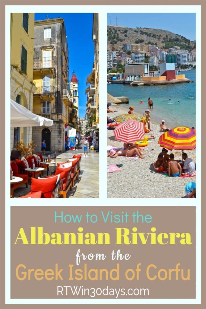Albanian Riviera from Corfu