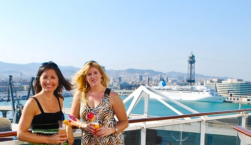 Barcelona Harbour Spain MSC Splendida