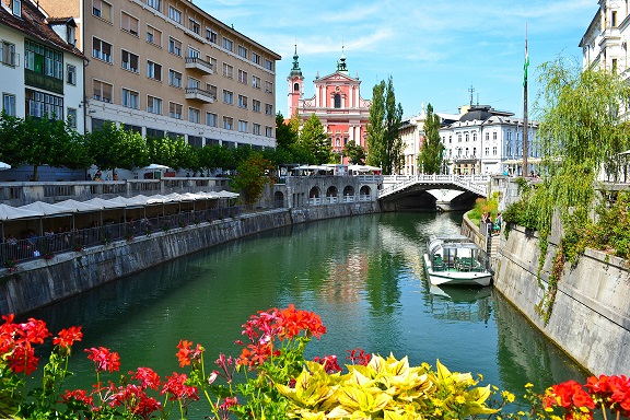 Ljubljanica River Ljubljana Slovenia