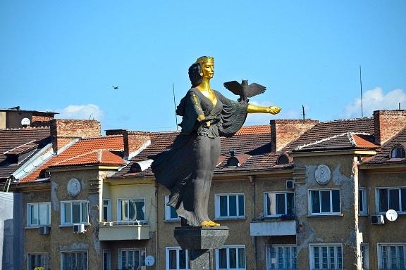 The statue of Sofia Bulgaria