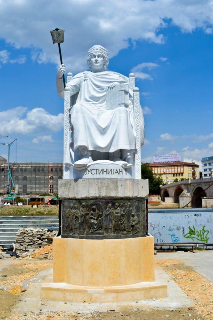Statues Skopje Macedonia
