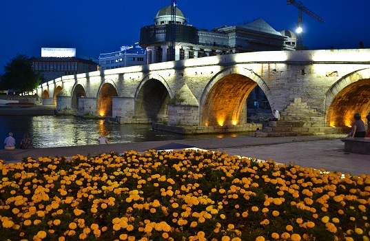 Stone Bridge Skopje Macedonia