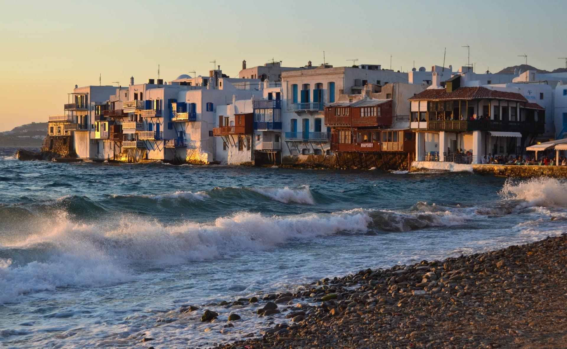 Little Venice Mykonos Greece Sunset