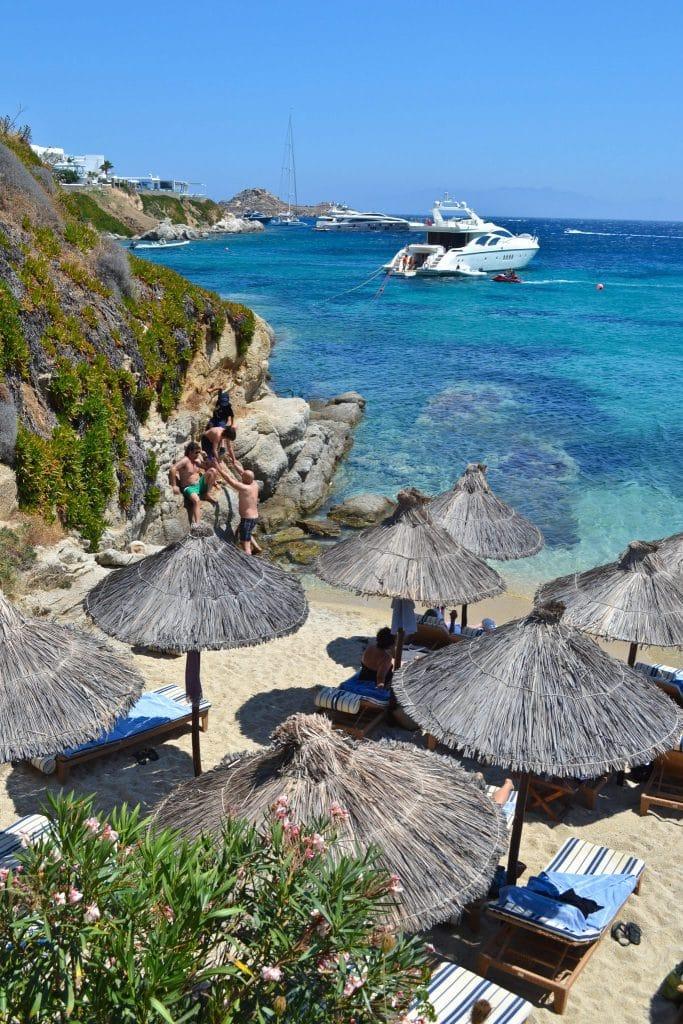 Psarou Beach Mykonos Greece