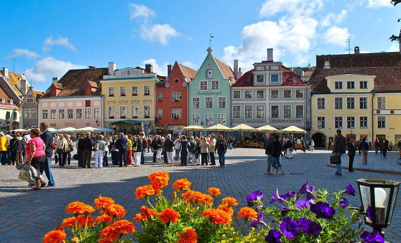 Old Town Square Tallin Estonia
