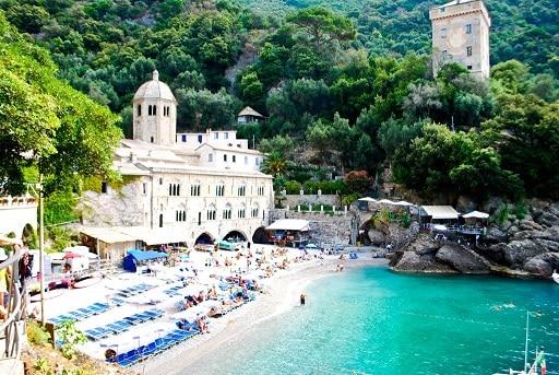 Seaside monastery San Fruttuoso Italy