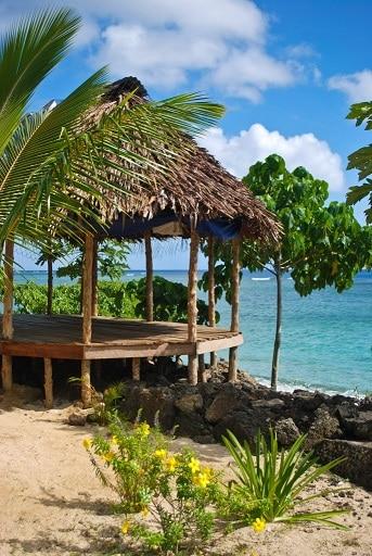 Beach fale Savaii Samoa