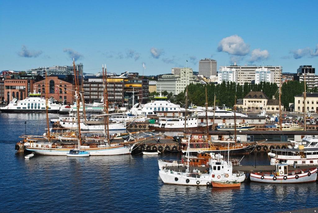 Aker Brygge Oslo Harbor Norway