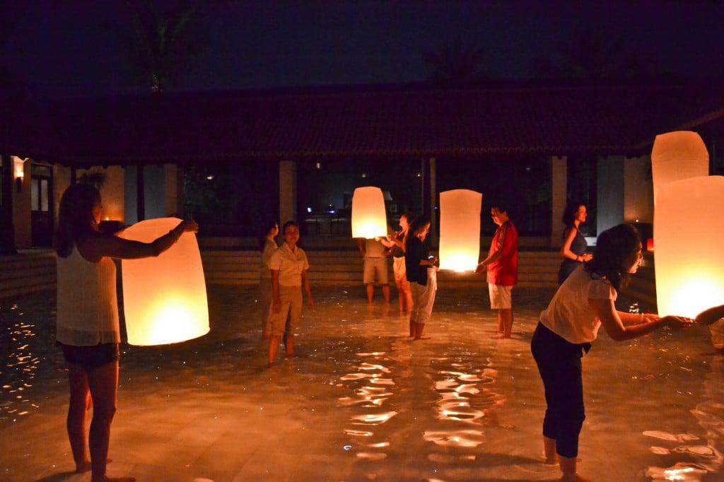 Thai lanten ceremony Le Meridien Koh Samui Thailand
