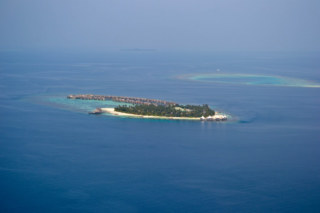 W Retreat Maldives from the air