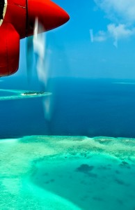 Seaplane flight Maldives