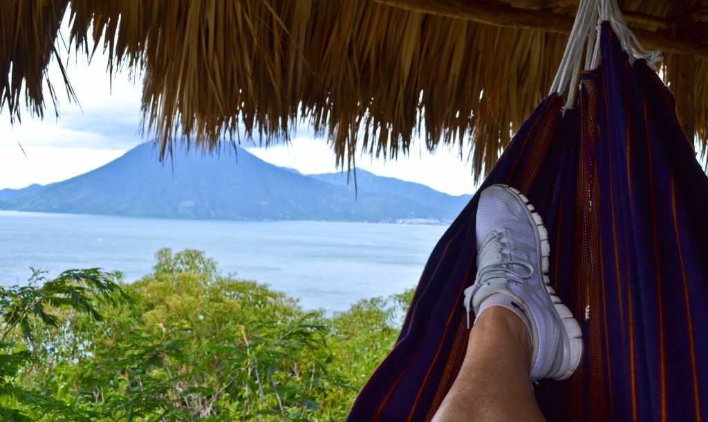 Hilltop palapa Laguna Lodge Guatemala