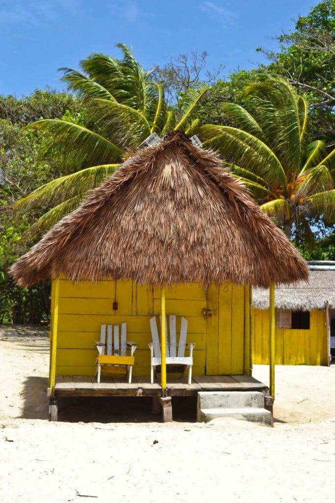 Beach hut Little Corn Island Nicaragua