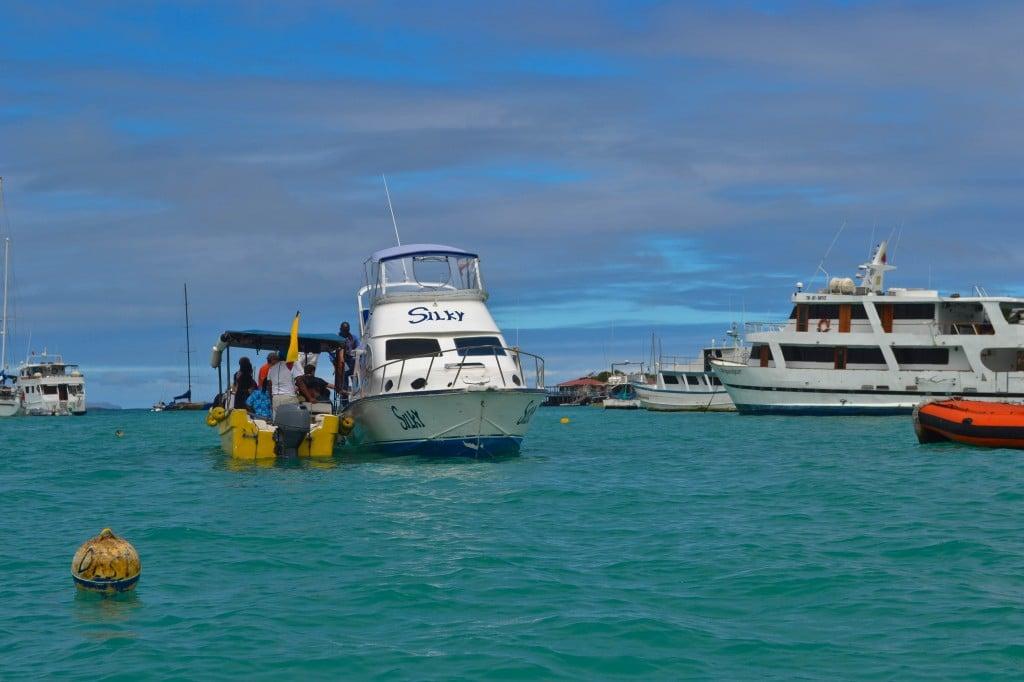 Ferry between islands Galapagos Islands