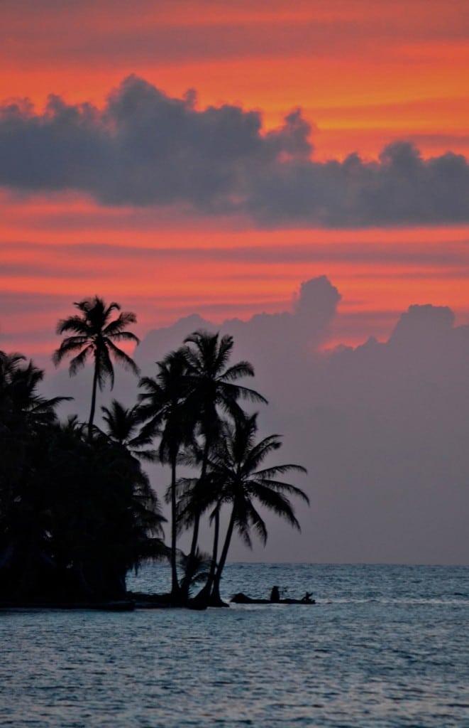 Sunset San Blas Islands Panama