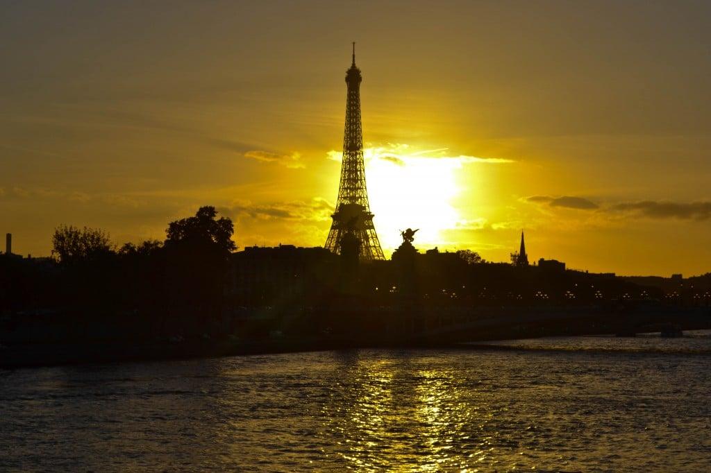 Eiffel Tower, Sunset, Paris