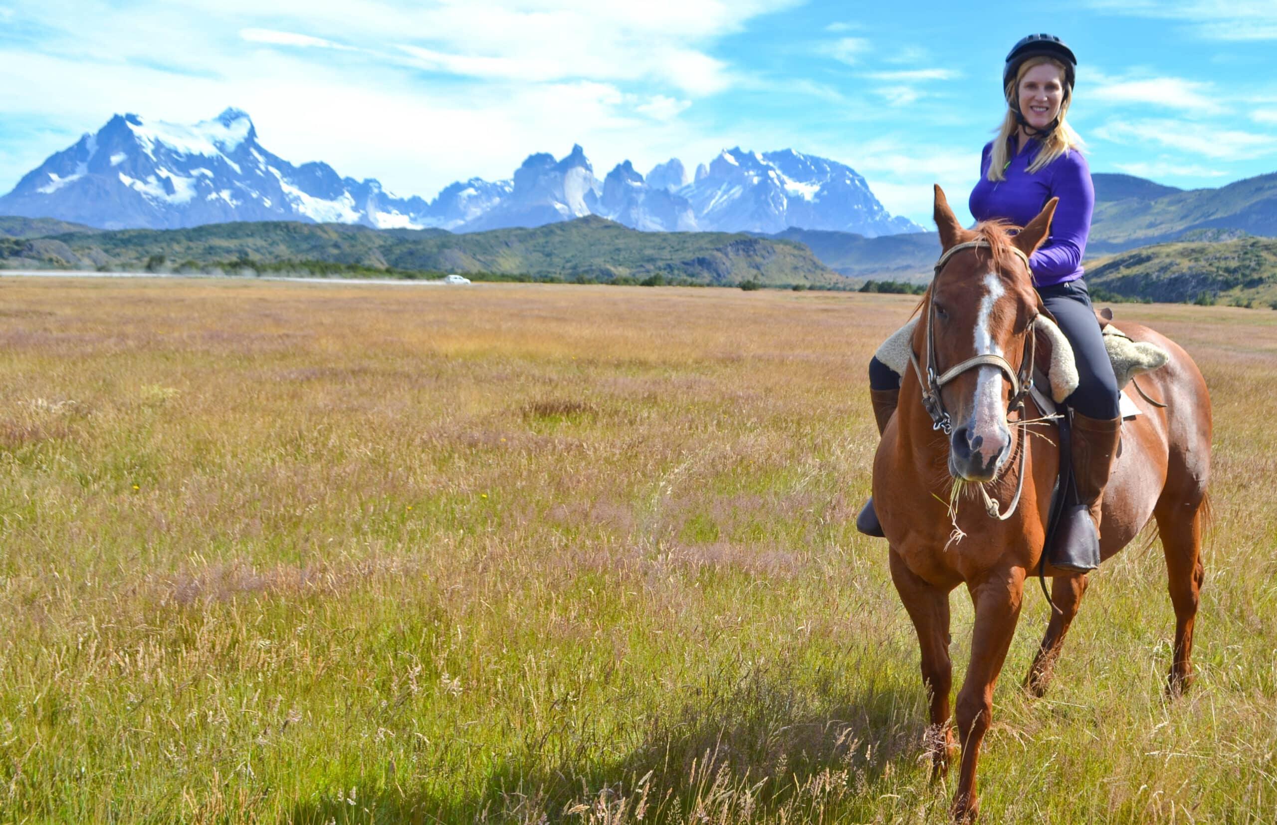 Horseback riding Torres del Paine Patagonia Chile