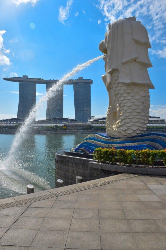 Marina Bay Sands Merlion Singapore