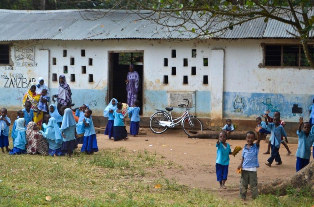 School children Zanzibar
