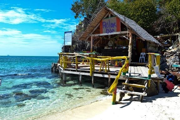 beach bar Koh Khai Nok Thailand