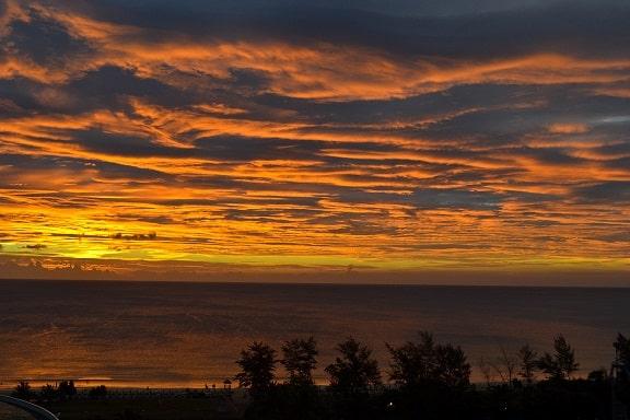 Sunset Karon Beach Phuket Thailand