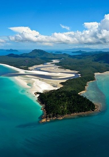 Whitehaven Beach Hill Inlet Whitsundays Australia