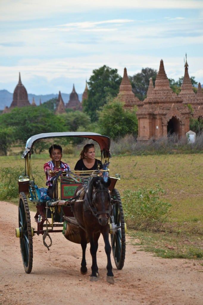 Horse Cart Temples Bagan Myanmar